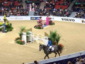 Catrin Lindh med KG Corazon red Lövsta Future Challenge Final i Göteborg Horse Show!